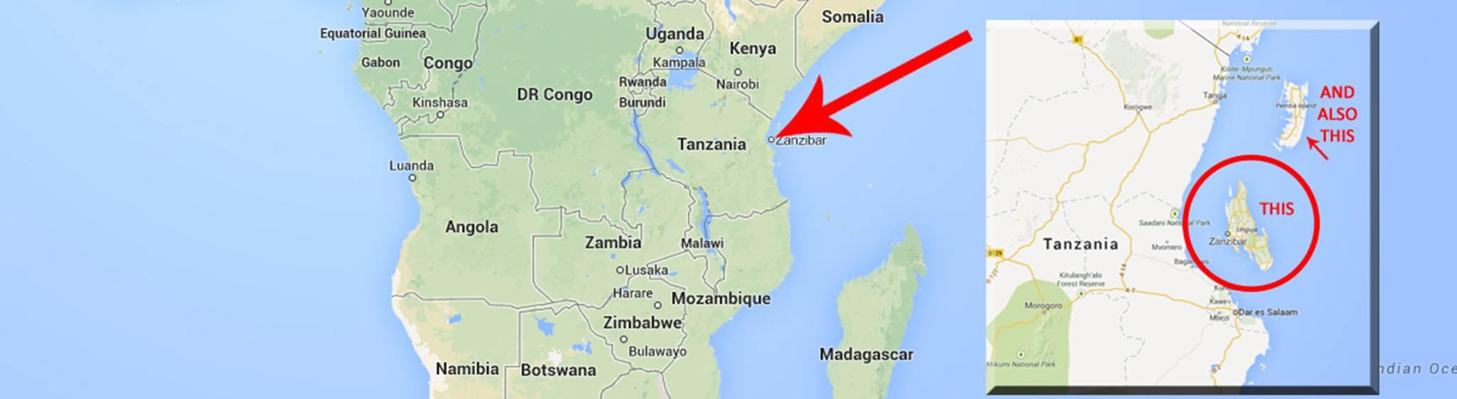 MAP OF ZANZIBAR ISLAND